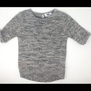 Old Navy varigated knit gray pink  sweater 5T EUC